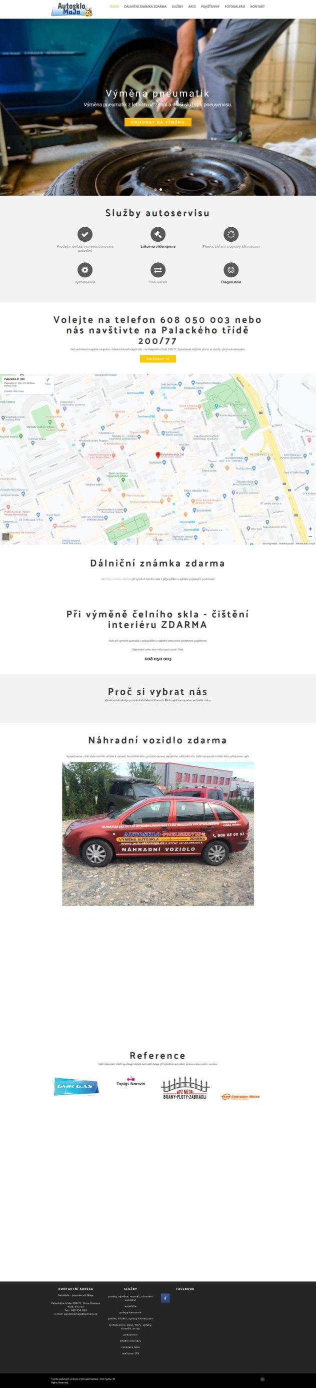 Autosklo Maja Brno-montáž a výměna autoskel všech aut